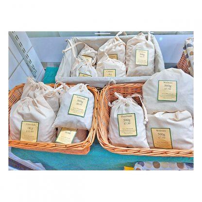 Cashews in bags