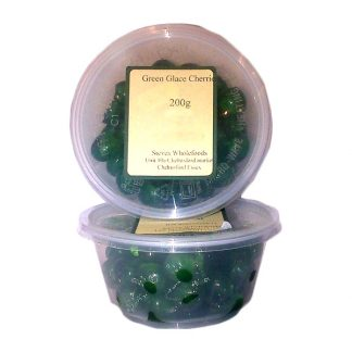 Green Glace Cherries