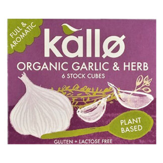 kallo organic garlic and herb stock cubes