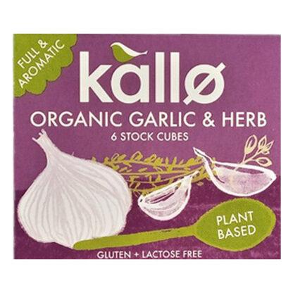 kallo organic garlic and herb stock cubes