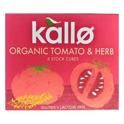 kallo organic tomato and herb stock cubes